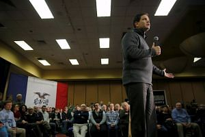 Republican candidate Marco Rubio speaking at the Sheraton Hotel in West Des Moines, Iowa, on Jan 26, 2015.