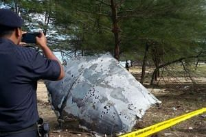 An object believed to be aircraft debris was found on the shores of Kampung Benting Lintang, in north-eastern Terengganu state.