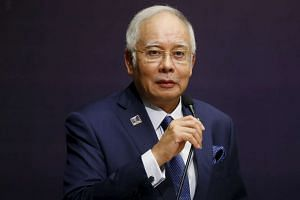 Malaysia's Prime Minister Najib Razak speaks at the International Conference on Deradicalisation and Countering Violent Extremism, on Jan 25, 2016.
