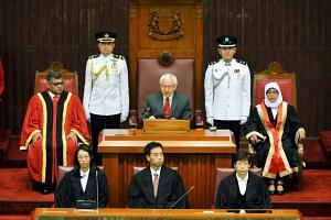 President Tony Tan Keng Yam at the opening of Singapore's 13th Parliament on Jan 15, 2016.