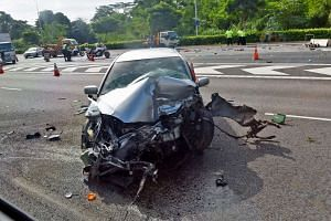 The car's 22-year-old male driver was arrested in relation to the accident.