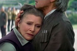 Carrie Fisher reprising her role as Princess Leia in the recent movie Star Wars: The Force Awakens, almost 40 years after her debut in the original Star Wars film. The makers of the latest movie insisted that Fisher lose weight for the role