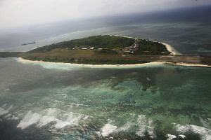 Pagasa (Hope) Island, which belongs to the disputed Spratly islands in the South China Sea.