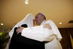 Pope Francis (right) and Patriarch Kirill, head of the Russian Orthodox Church, embrace in Havana, on Feb 12, 2016.