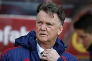 Manchester United manager Louis van Gaal before the match.