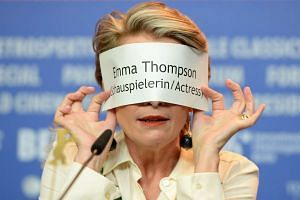 British actress Emma Thompson attends a press conference at the 66th annual Berlin International Film Festival on Monday.