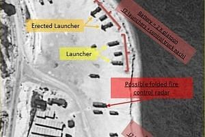 A satellite image of Woody Island showing the deployment of missile launchers first shown on Fox News. This is likely to be the first time such weapons have been deployed in the Paracels since China seized control of the islands in 1974.
