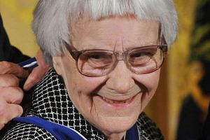 American novelist Harper Lee being awarded the Presidential Medal of Freedom in 2007.