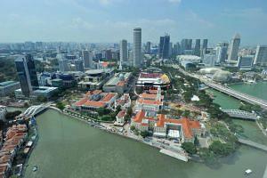 The Singapore skyline on July 27, 2015.
