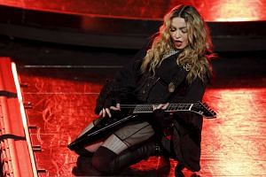 Madonna performs during her Rebel Heart Tour concert at Studio City in Macau on Feb 20, 2016.