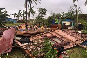 A handout imaged obtained on Feb 21, 2016, shows scenes of Tropical Cyclone Winston's destruction in Ba, Fiji.