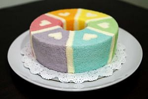 Susanne Ng shares her recipe for six-flavour rainbow hearts chiffon cake.