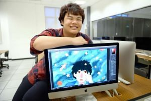 Mr Lee, who is in a diploma course in illustration design with animation, will be graduating in September this year and hopes to pursue a degree in graphic communication at Nafa or go abroad to study. During a two-month internship at a design company
