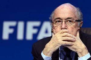 Blatter (above) congratulated Gianni Infantino on being elected his successor.