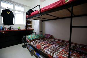 Benjamin Lim's bedroom in his family's Yishun HDB flat on the 14th floor.