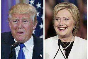 Presidential candidates Donald Trump (left) and Hillary Clinton emerged as the favourites to win their party's nominations.