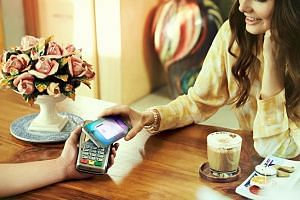 Samsung Pay uses a proprietary Magnetic Secure Transmission technology that can interact with traditional card readers. Users need to register their card details on certain Samsung smartphones - such as the Galaxy S6, S7 or Note 5, which have fingerp