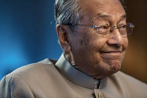 Former Malaysian prime minister Mahathir Mohamad during an interview at his office in Kuala Lumpur on Feb 25.
