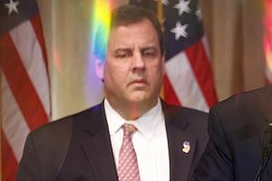 Governor Chris Christie appears to be embracing his new sidekick role.