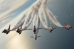 ST photojournalist Alphonsus Chern won the Feature Picture of the Year award for this shot of the Black Knights, the RSAF aerobatics team.