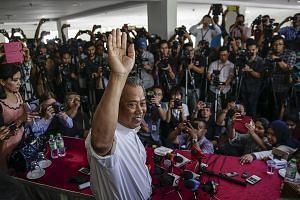 """Mr Muhyiddin said at the press conference yesterday that he is staying on in Umno to help """"fix the party"""" from the inside."""
