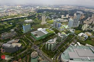 Artist's impression of Jurong Lake District.