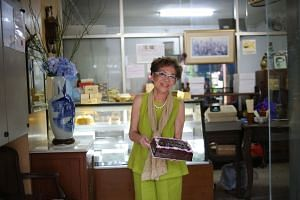 Mrs Violet Kwan of Lana Cake Shop with her famous chocolate fudge cake. Recipes and techniques need to be thought of as intellectual property with value - the way property, stocks and shares, art and fine wine have value. Expecting anyone to give it all a
