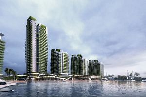 An artist's impression of the Forest City, a mixed-use development on four man-made islands in the Johor Strait.