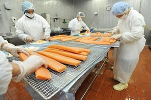 A smoked salmon production area at Fassler Gourmet. The seafood manufacturer is part of the group - comprising members from the private and public sectors - working on the guidelines on how ready-to-eat raw fish should be handled and prepared.