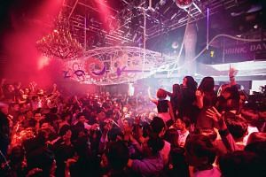 Patrons at Zouk Singapore.