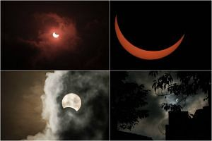 A selection of solar eclipse photos posted by users in response to Prime Minister Lee Hsien Loong's Facebook call to share their efforts.