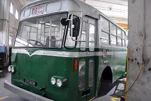 Top: A fare validator, which was used in the 1990s. Above: Before 1990, a bus conductor would dispense a bus ticket after punching a hole in it. A refurbished vintage bus from the 1960s will be on show.