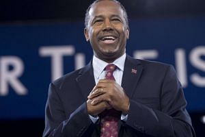 Former Republican presidential candidate Ben Carson speaking during the annual Conservative Political Action Conference 2016 at on March 4, 2016.