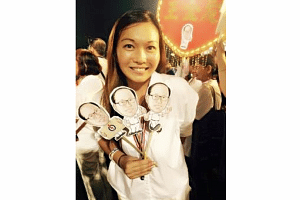 Wendy Lim at a rally on Sept 8, 2015.