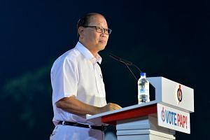 David Ong speaking at the PAP rally on Sept 7, 2015.