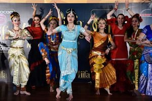 Dancers perform before a press conference held to present the Bollywood Oscars in Madrid on Monday.