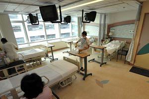 General shot of a class B1 ward at Changi General Hospital.