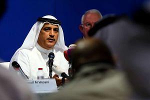 Flydubai chief executive Ghaith al-Ghaith at a press conference in Dubai on March 19, 2016.