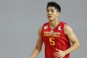 Singapore Slingers player Wong Wei Long.