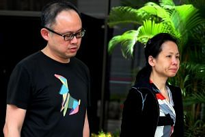 Lim Choon Hong (left) and his wife Chong Sui Foon pleaded guilty to charges of failing to provide their maid with adequate food.