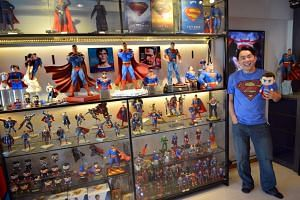 Mr Eric Sia, a Superman fan, started collecting the comics first, buying them with his salary from working part-time at McDonald's at age 14.