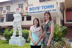 Ms Risela Darmawan (left) and Ms Gillian McConnell are among the staff running the Sanctuary Care service at Boys' Town, which has taken over the foster care service provided by Sanctuary House.