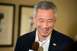 Prime Minister Lee Hsien Loong speaking to Singapore media after the US-Asean leaders Summit in Sunnylands, California, on Feb 16.
