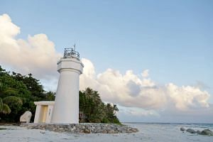 A lighthouse in Taiping, the largest island in the Spratlys chain.