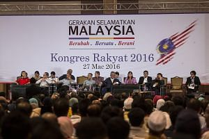 A general view of the Save Malaysia movement congress in Shah Alam, Selangor, near Kuala Lumpur, on March 27, 2016.