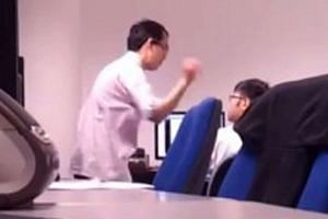 Another intern had taken a 17-second video of Lee hitting Mr Chan and posted it online.