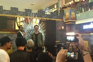 Isaac Hempstead Wright at Ion Orchard's Basement 4 Atrium on April 2, 2016.
