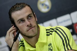 Real Madrid's Welsh winger Gareth Bale at a press conference on March 30, 2016.
