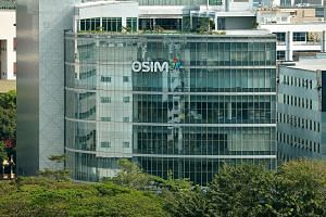 Osim International's shares jumped as much as 14 per cent to a four-month high of $1.395.