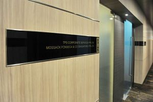 The exterior of Mossack Fonseca office in Singapore at Keppel Road.